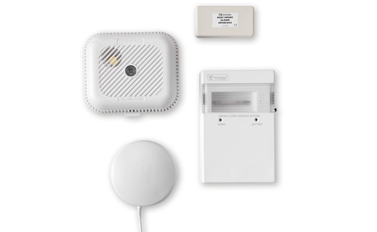 deaf smoke detector kit